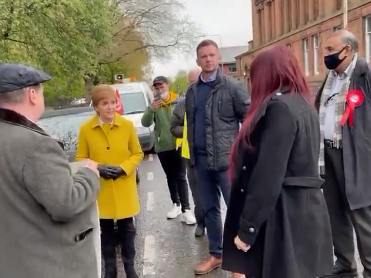 Nicola Sturgeon calls ex-Britain First deputy leader Jayda Fransen 'racist' in tense confrontation