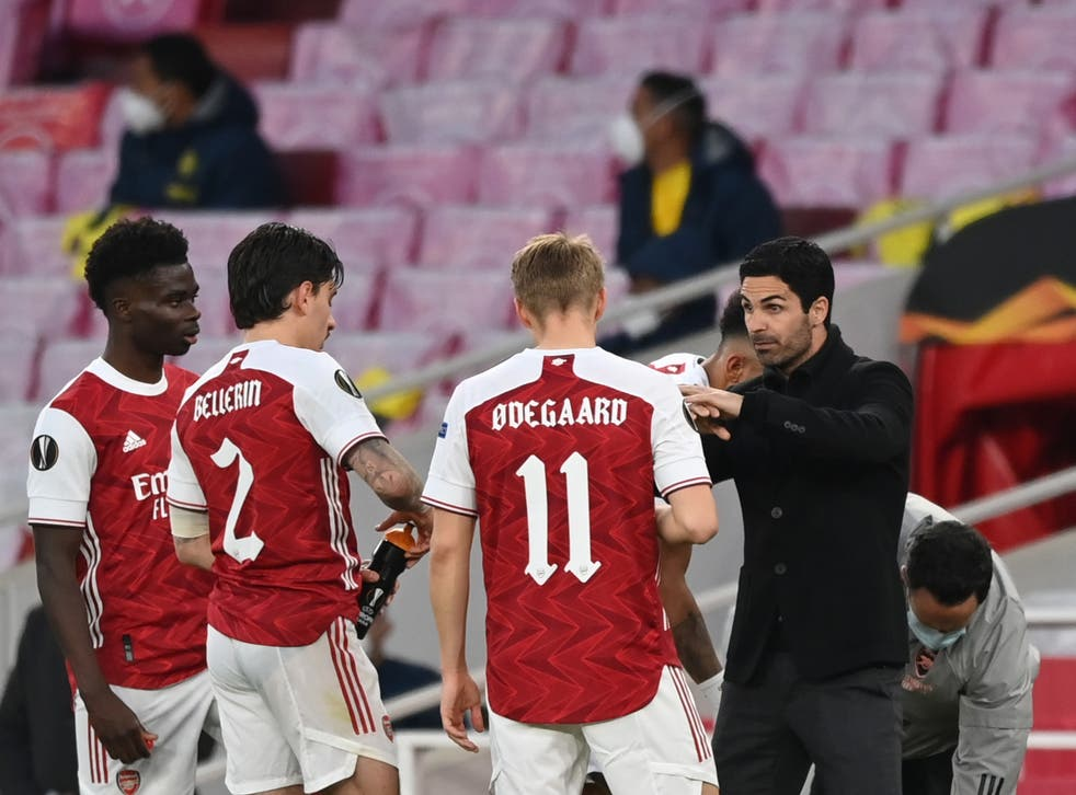 Arsenal coach Mikel Arteta was unable to inspire his players to victory against Villarreal