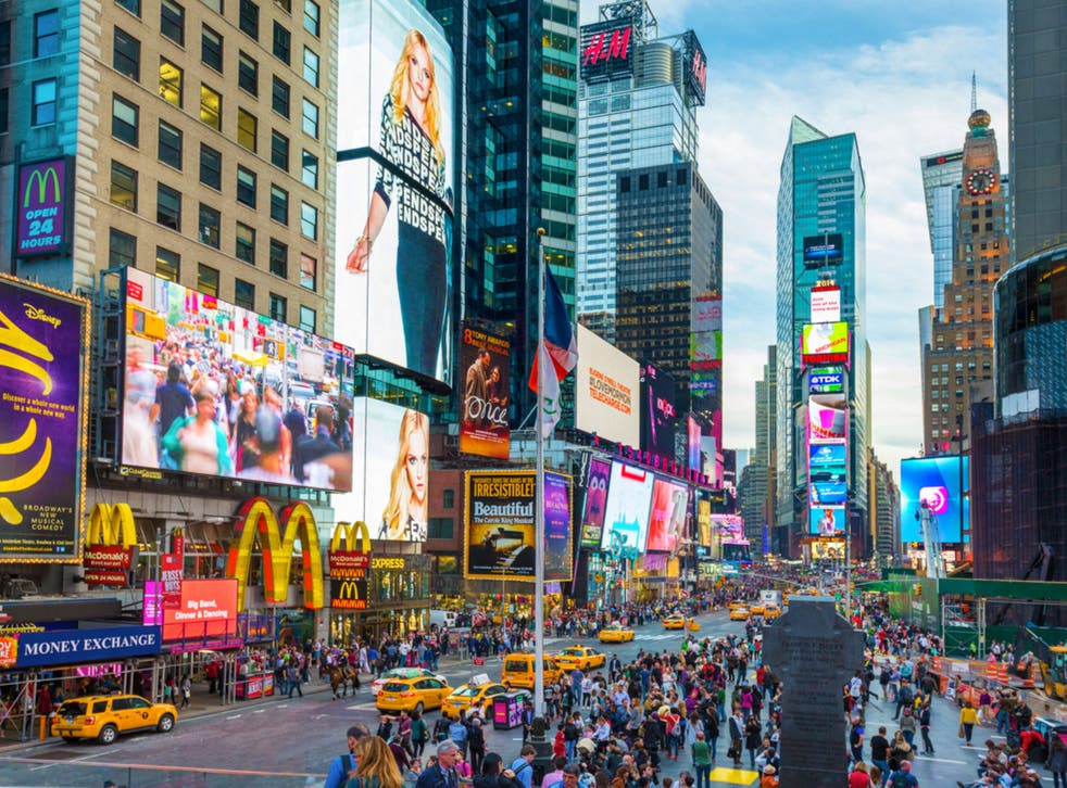 <p>People on social media were quick to highlight that turning the power off in Times Square might save some energy</p>