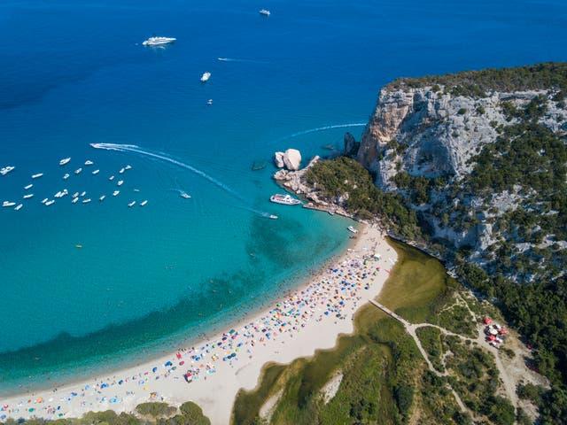 <p>Cala Luna beach in Sardinia, Italy</p>
