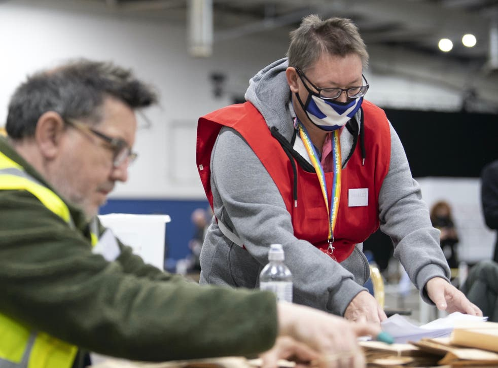 <p>Counting continues in Scotland this morning</p>