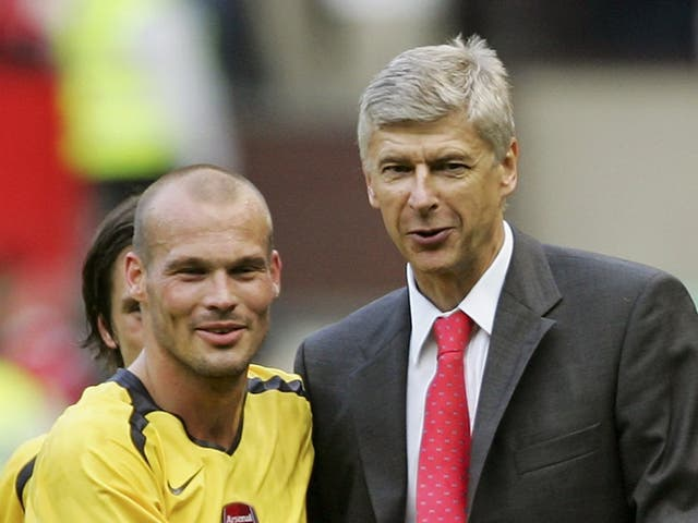 Freddie Ljungberg with Arsene Wenger in 2006