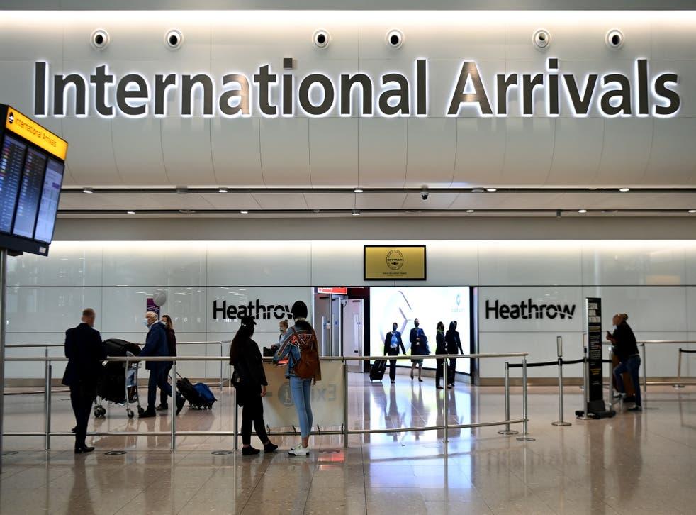 <p>Heathrow arrivals</p>