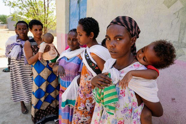 <p>Survivors displaced by conflict in Ethiopia, following a series of attack in towns in Tigray</p>