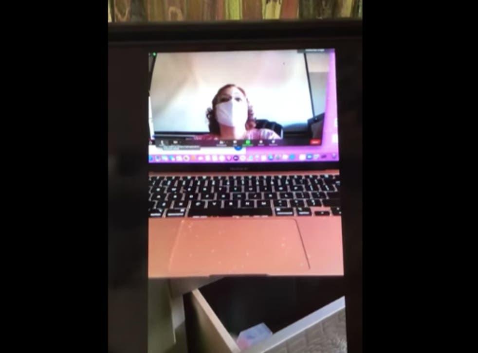 Screengrab of teacher zoom call