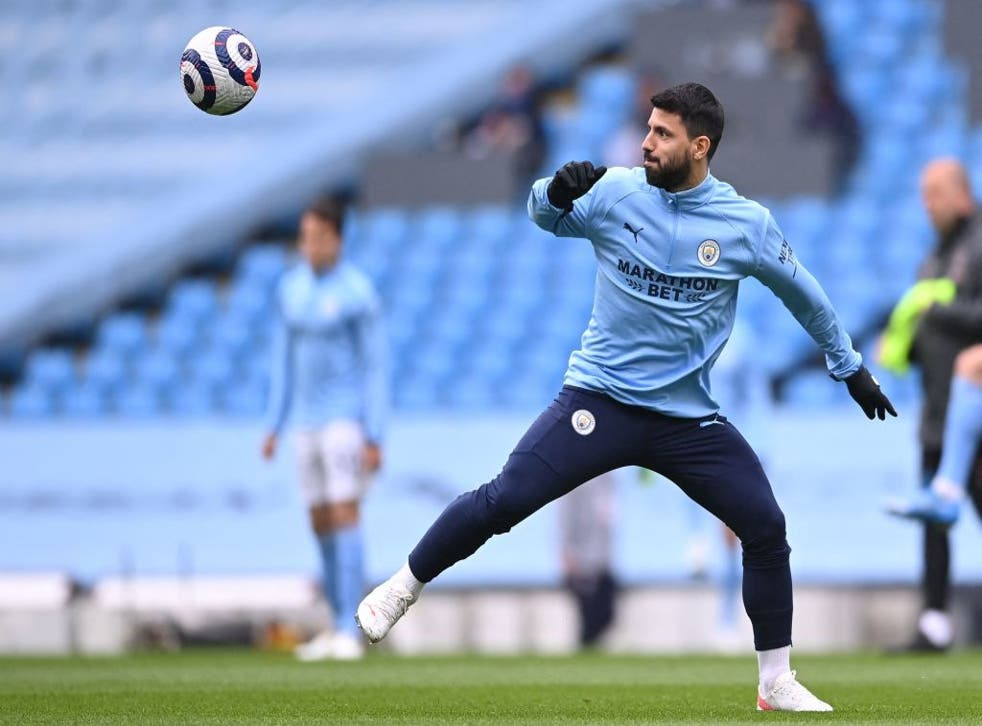 <p>Sergio Aguero has been on the bench for much of the season</p>