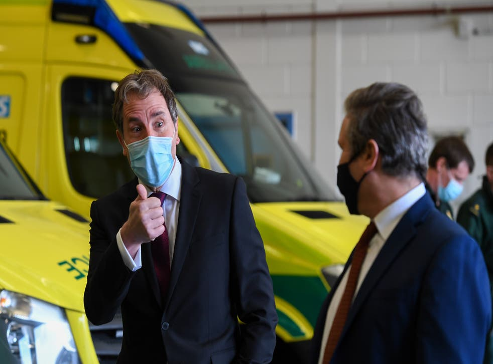 <p>Labour mayor Dan Norris on the campaign trail with Sir Keir Starmer</p>