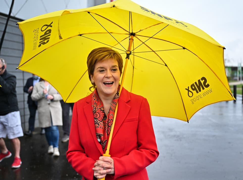 <p>Nicola Sturgeon's SNP failed to secure a majority</p>
