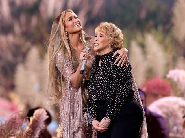 Jennifer Lopez and Guadalupe Rodríguez perform at Vax Live