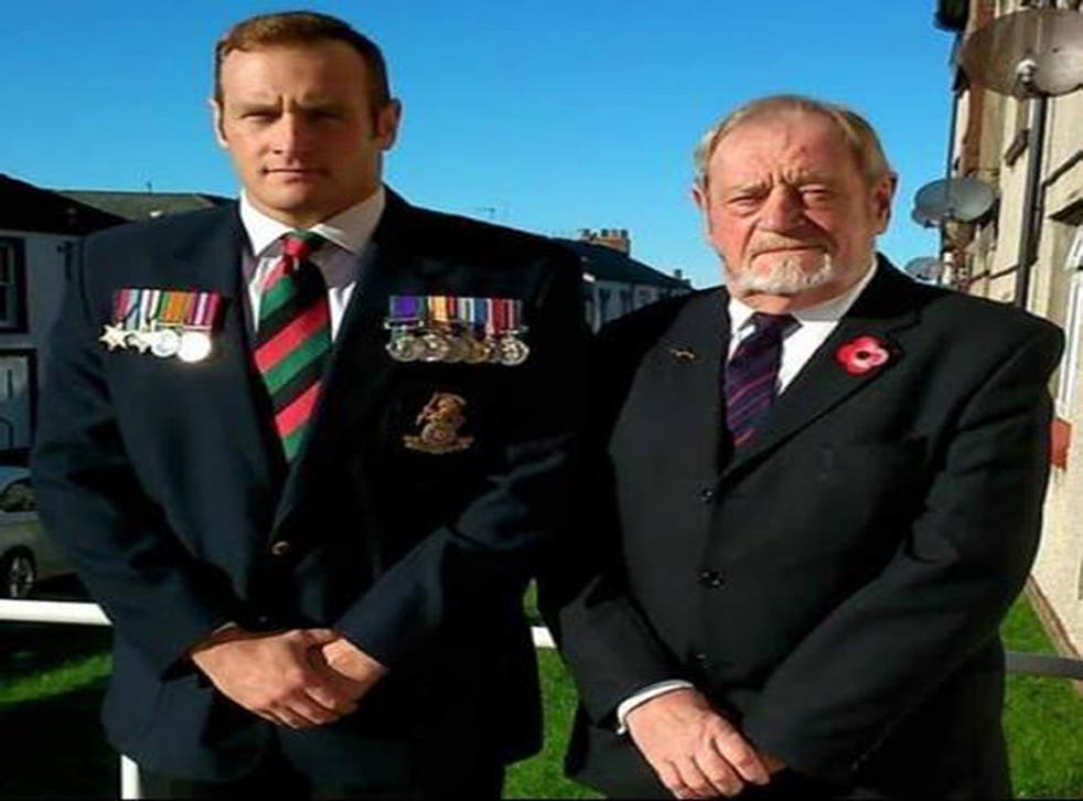 David Mossop with his father Colin