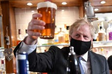 Boris Johnson to give go-ahead for hugging and indoor drinking