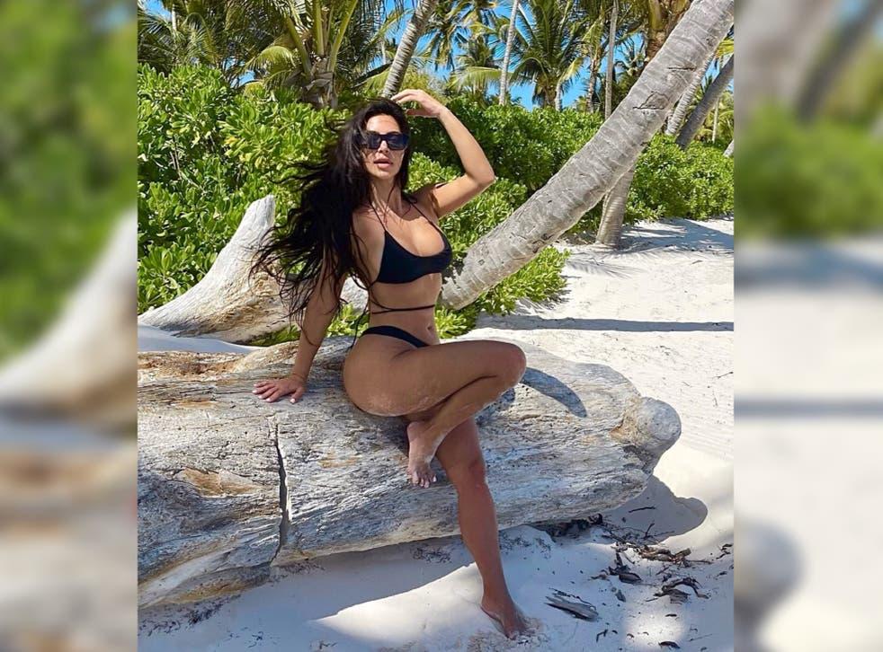 <p>Kim Kardashian's latest beach snap has divided viewers</p>