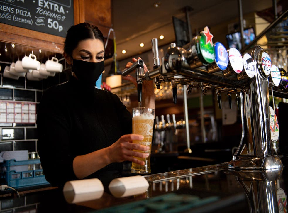 <p>Thousands of staff are set to return to work in pubs, bars and restaurants across England next week</p>
