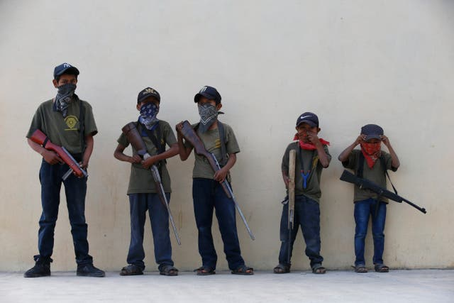 Mexico Armed Children
