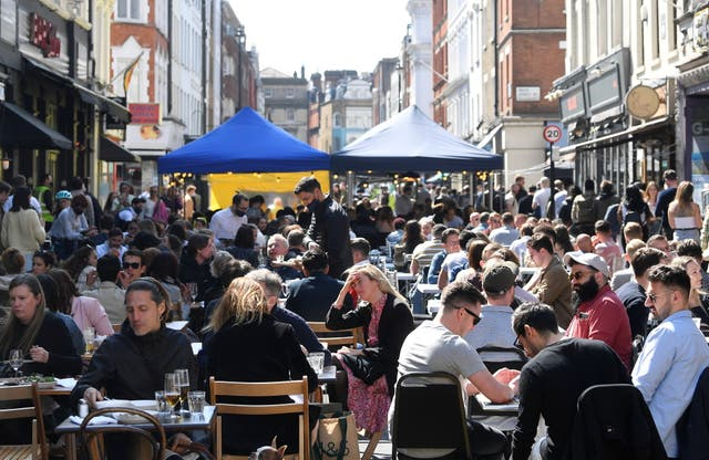 <p>Crowds have returned to popular destinations such as London's Soho after restrictions were eased</p>