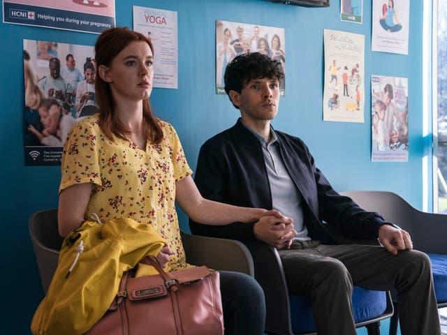 <p>Amy James Kelly and Colin Morgan star as Hannah and Jonathan</p>