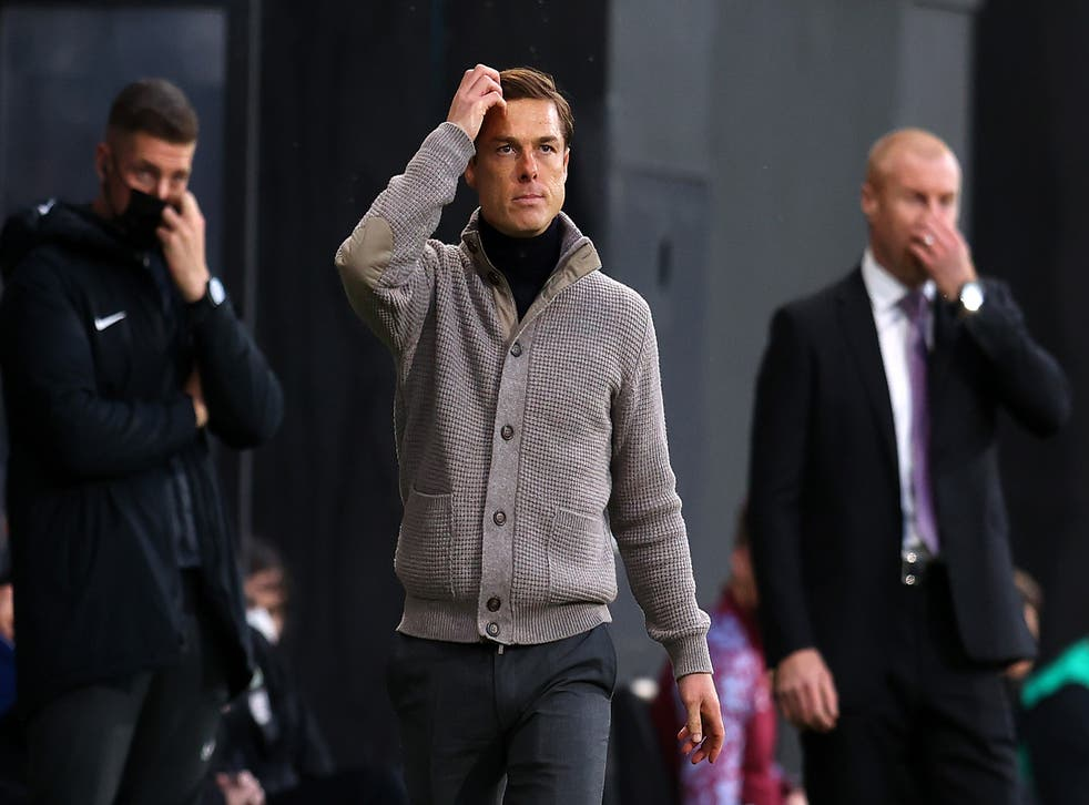 Scott Parker watches on from the touchline