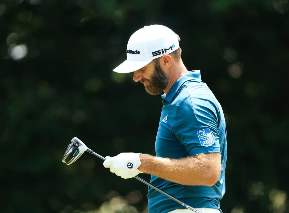 PGA world No 1 Dustin Johnson