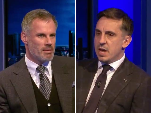 Sky Sports pundits Jamie Carragher and Gary Neville