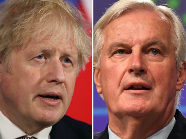 <p>Brexit heavyweights: Boris Johnson and Michel Barnier </p>