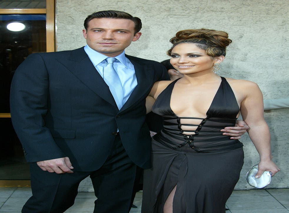 Ben Affleck and Jennifer Lopez at the Gigli premiere in 2003