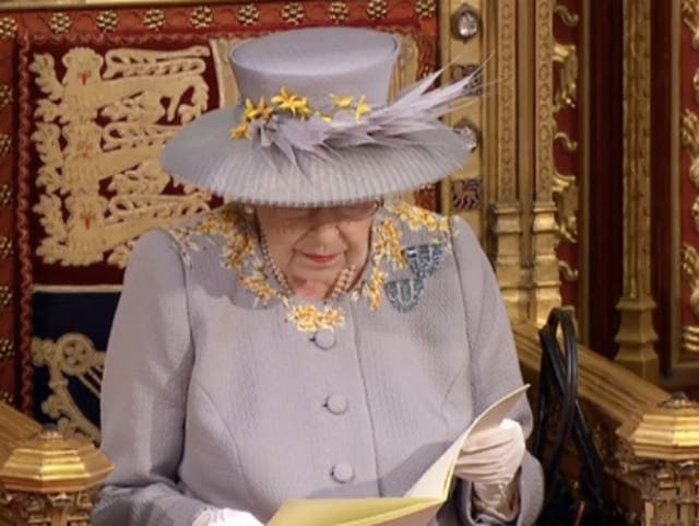 The Queen's Speech took place in parliament on Tuesday