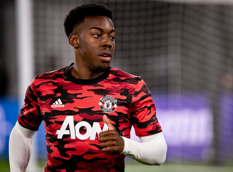 <p>Anthony Elanga has caught the eye since training with the Manchester United first team</p>