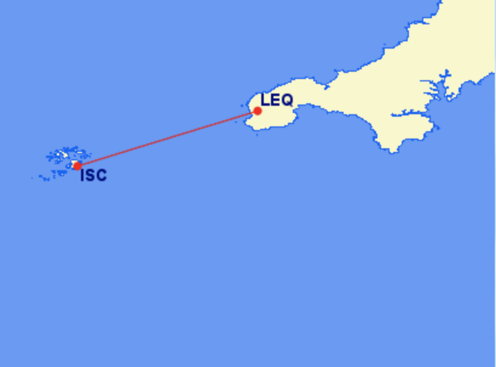 <p>The 20-minute journey between the Isles of Scilly and Land's End costs £93 one way</p>