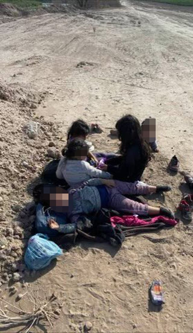 <p>Five girls were found abandoned in a field near the southern border</p>