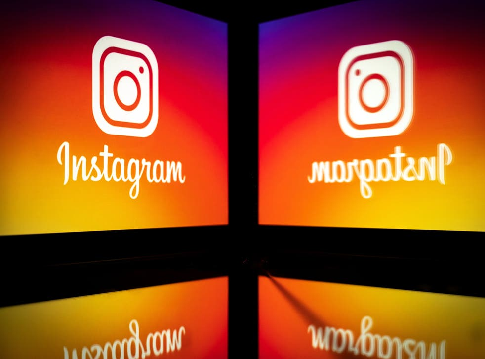 Picture taken on September 28, 2020 shows the logo of the social network Instagram on a smartphone, in Toulouse, southwestern France