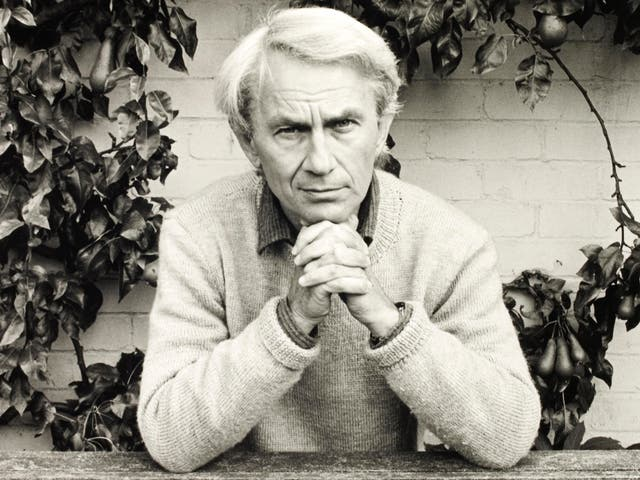 <p>The poet in 1986, the same year he was chair of the Booker Prize judges</p>
