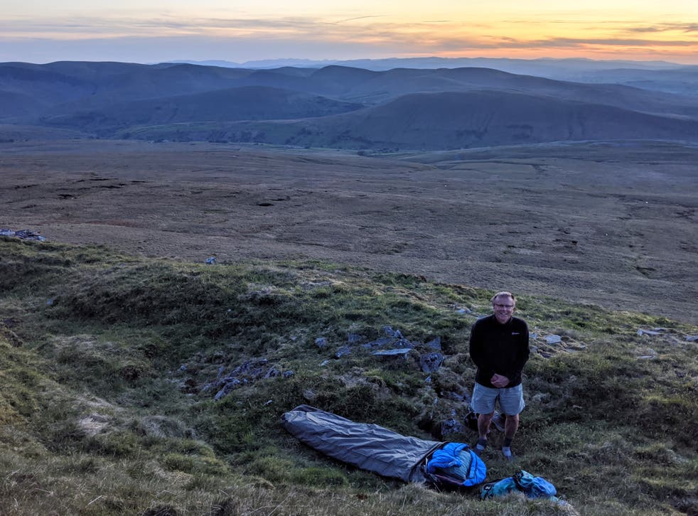 Bring on the bivvy: Paul Kirkwood gets ready for a night outdoors