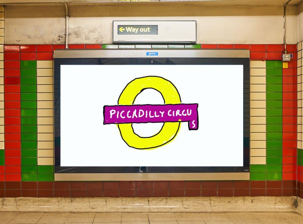 David Hockney's 'Hockney Circus' artwork in Piccadilly Circus
