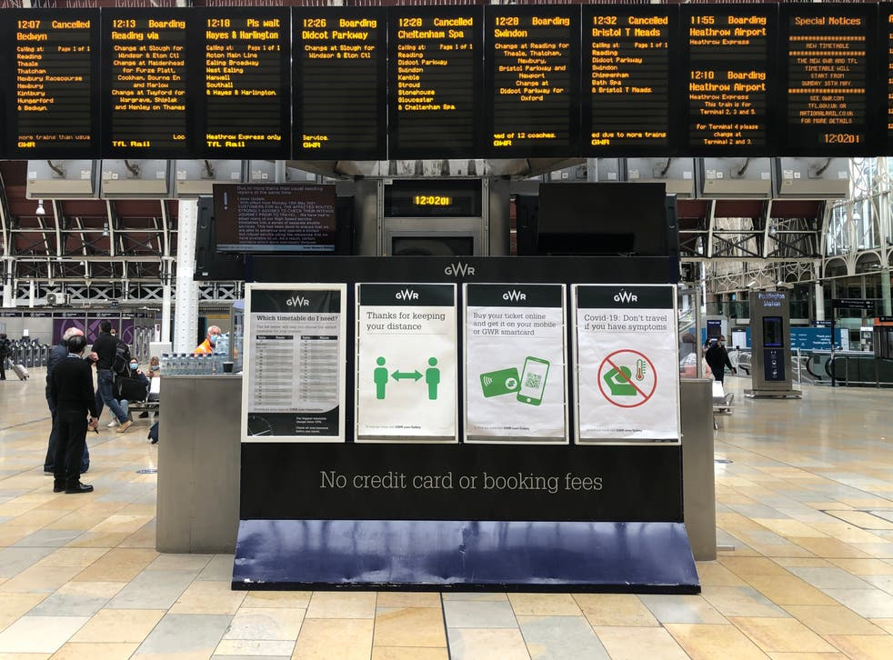 End of the line: most trains to and from London Paddington are cancelled