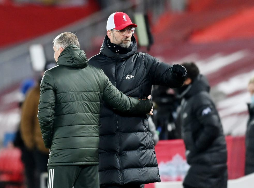The two managers meet at Old Trafford on Thursday evening