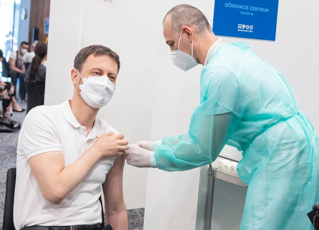 Virus Outbreak Slovakia AstraZeneca