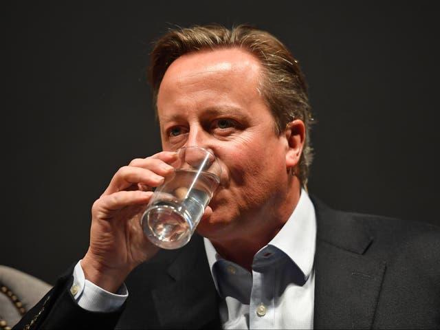 Former Conservative prime minister David Cameron