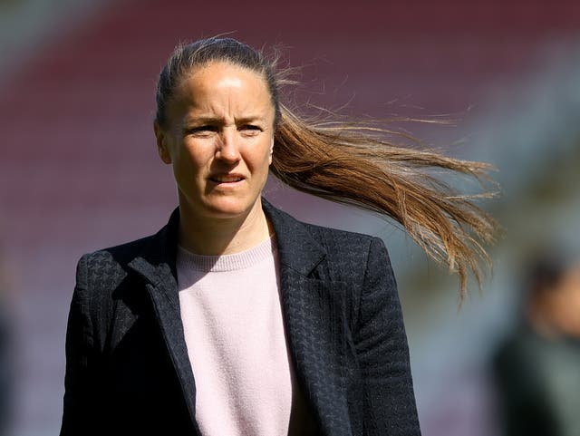 Manchester United women's head coach Casey Stoney