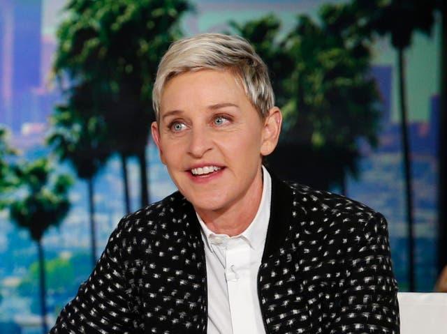 Ellen DeGeneres during a taping of The Ellen DeGeneres Show in 2016