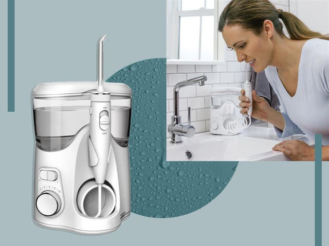 <p>These electrical devices use pressurised water to flush out any trapped food or debris from between your teeth</p>