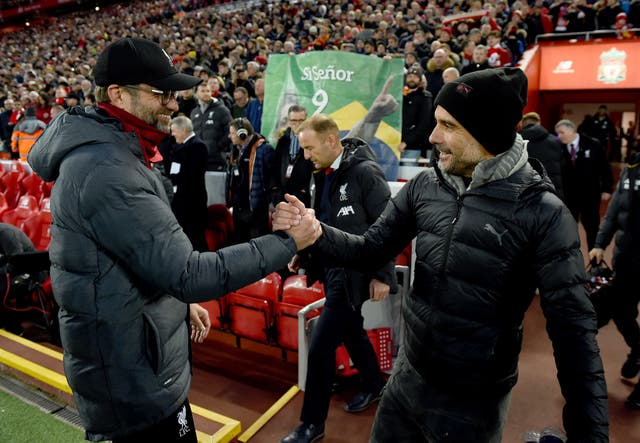 <p>Jurgen Klopp and Pep Guardiola have battled for the title in the Premier League and Bundesliga </p>