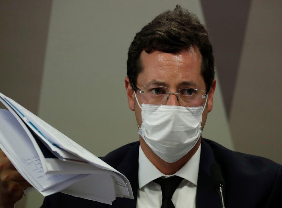 Virus Outbreak Brazil Senate Investigation