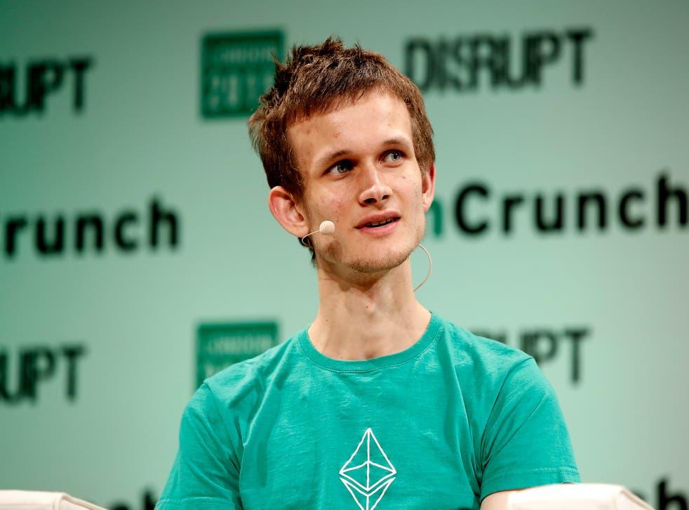 Founder of Ethereum Vitalik Buterin during TechCrunch Disrupt London 2015