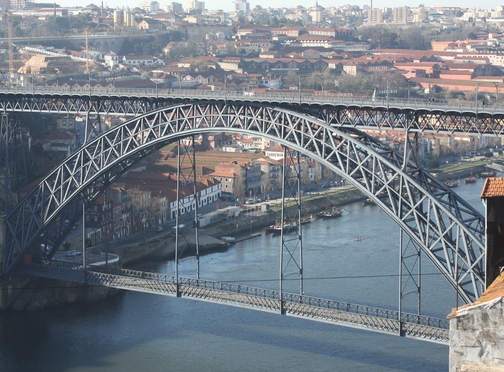 Building bridges: the multi-level bridge over the Douro river in Porto, northern Portugal