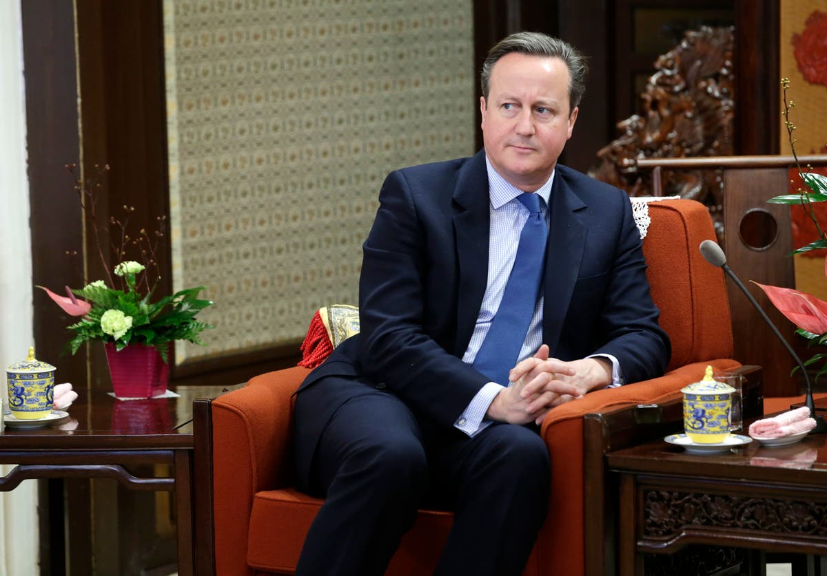 Ex-UK PM Cameron grilled over links to bankrupt finance firm London Covid Boris Johnson David Cameron Conservative
