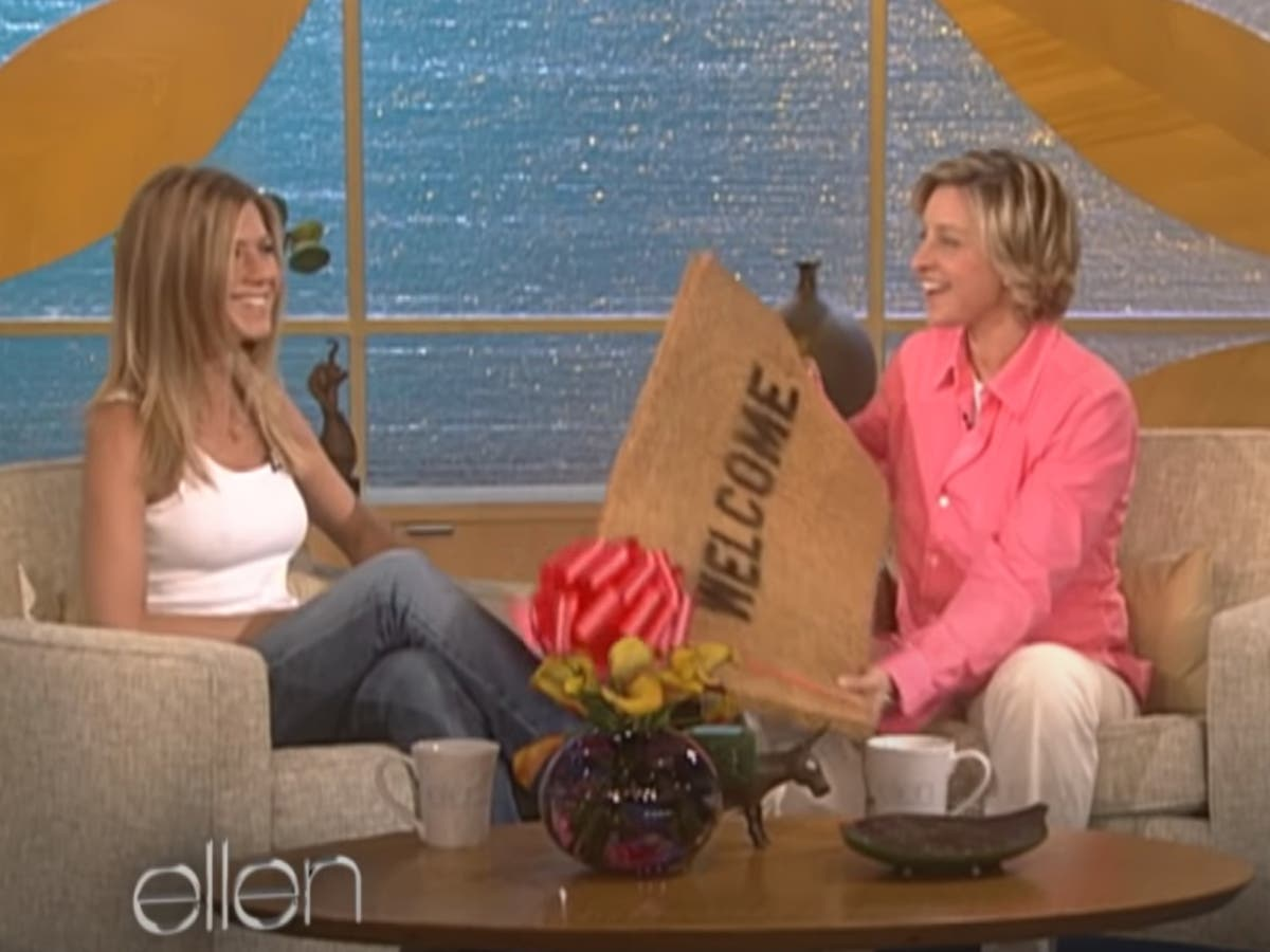 The Ellen DeGeneres Show: Revisiting host's first-ever on-set interview with Jennifer Aniston   The Independent