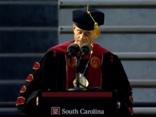 University of South Carolina president Bob Caslen resigned after he was found to have plagiarized a commencement speech.