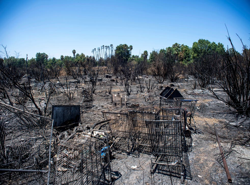 Los Angeles Homeless-Fires