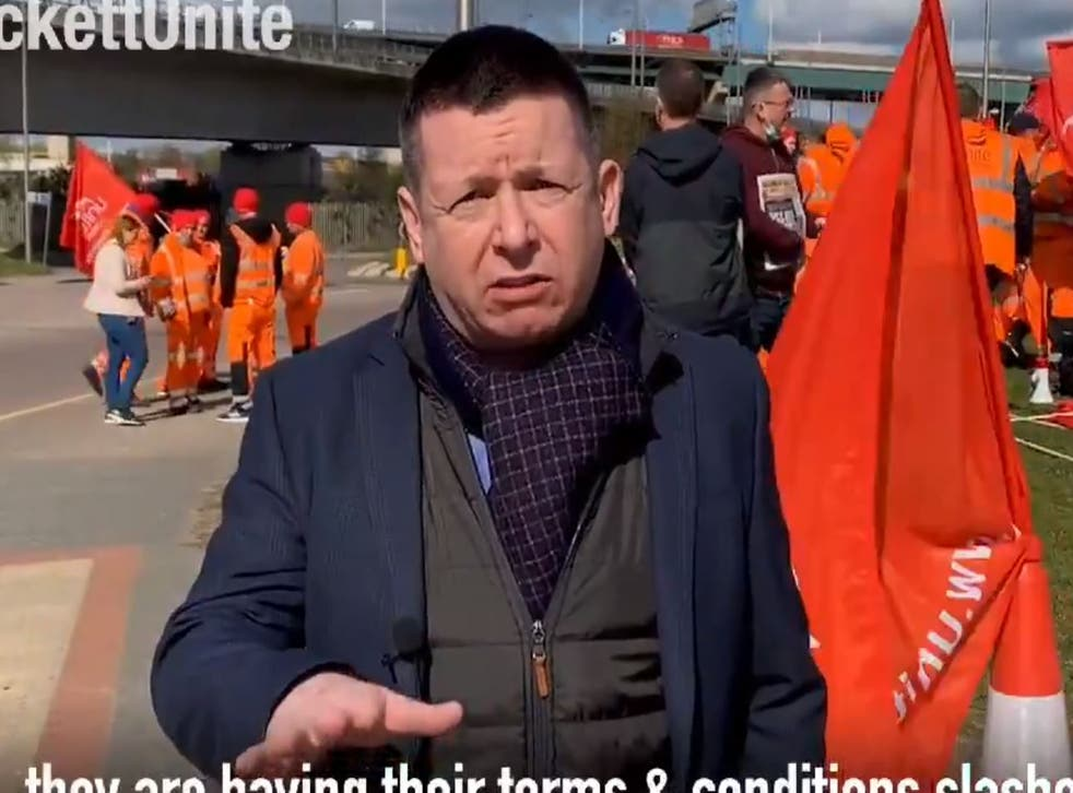 Howard Beckett appearing in a Unite campaign video