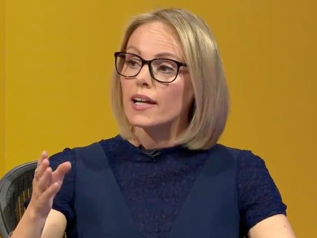 GB News presenter Michelle Dewberry on BBC Question Time